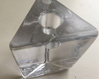Trianglar, Geometric Crystal Candle Holder For Tapered Candles
