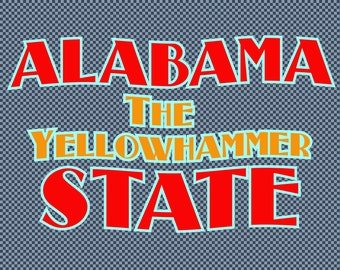 Embroidery Alabama State Yellowhammer Bird