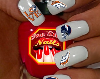 San francisco nail etsy denver broncos nail art decals clear waterslide nail decals db10 4 58 prinsesfo Image collections