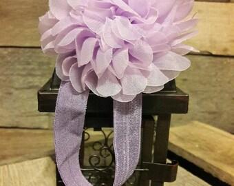 Thick Elastic Lavender Flower Headband