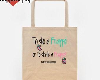 Frappe Tote Bag, Dance Bag, Dance Tote Bag, Ballerina Tote Bag, Dance Shoe Bag, Frappe Bag, Canvas Tote Bag, Dance Gift, Dance Teacher Gifts