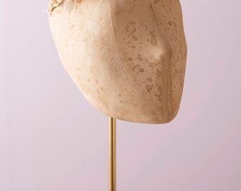 Boho like rain-- handmade fabric hydrangea triple branch headpiece