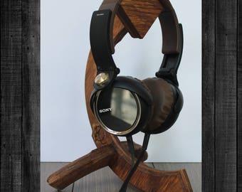 Open Q - Handmade Wooden Headphone Stand