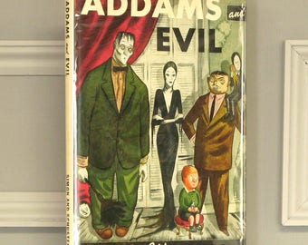 ADDAMS AND EVIL by Charles Addams, introduction by Wolcott Gibbs