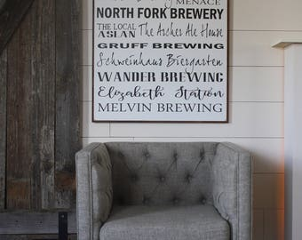 Bellingham Washington Breweries Taphouse Wood Sign