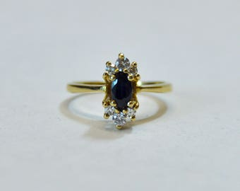 Diamond and Sapphire Midi Ring