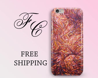 Abstract Floral iPhone 7 Case iPhone 6 iPhone 5 Case Flower Phone Case For iPhone 5s Case Glossy iPhone Case iPhone 5C iPhone SE Case aia