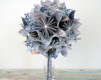 Bouquet arty origami - everlasting bouquet of origami on vase style arty - Kusudamaflowers