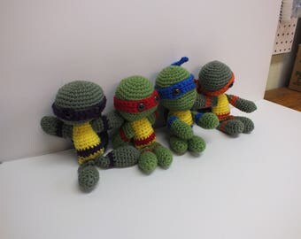 crocheted turtles