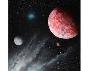 Outer Space - Spray Paint Art - Galaxy - Space Painting - Planets in Space - Astronomy - Mars - Supernova - Street Art - Planetary Night Sky