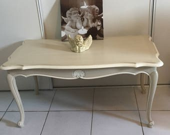 Low louis XV shabby chic table