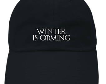 "Game of Thrones ""Winter Is Coming"" Unstructured Dad Hat Cap"