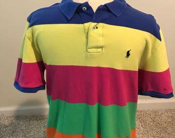 Blue, Yellow, Pink, Green Ralph Lauren Boy's Polo Shirt