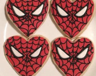 Spider-Man Heart Cookies