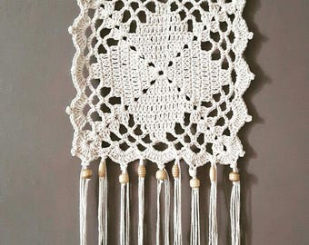 Crochet Bohemian wall hanging