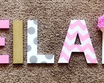 Princess Theme Hand Painted Nursery Letters | Hand Painted | Completely  Custom Painted Letters | Chipboard
