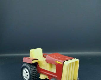 "Vintage Toy tractor -  Toy tractor - Small Tractor - Mini Tractor - Retro Tractor - Tractor ""Peace"" - Made in Russia."