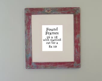 Distressed Red #1 frame 16 x 18