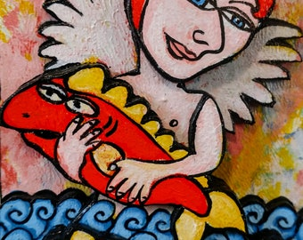 Angel with fish