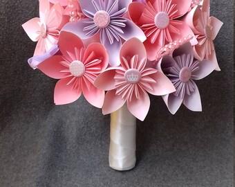 Bouquet Bridal Bouquet of paper, Origami Wedding Bouquet, wedding flowers, origami paper flower bouquet