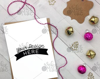 Vertical Card Art Mockup Styled Flatlay Photo for Instagram / Blog - CHRISTMAS