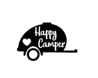 Happy Camper, Teardrop Trailer Decal