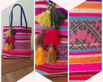 Colorful and unique tote bag ethnic