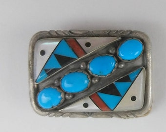 Small Sterling Silver Girl's Navajo Turquoise Buckle Belt