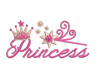 Tiara Embroidery Design - Princess Tiara Crown Embroidery Design - 2 sizes instant download