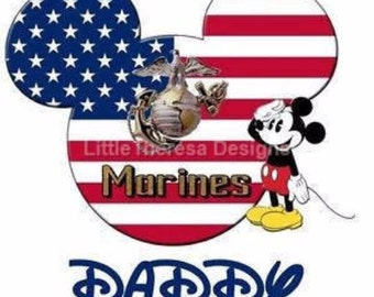 Mickey Marine Daddy Iron On Transfer