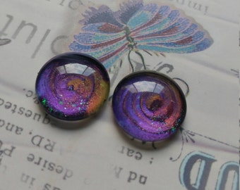Firelight And Purple, Earrings or Hair Pins