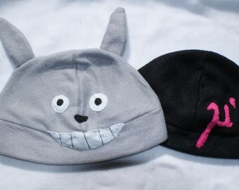 Anime Fleece hats Inspired by Totoro and Love Live