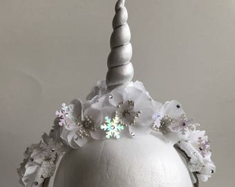 Unicorn Party Custom Unicorn Floral Headband for Adults