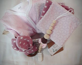 Baby box birth (Rattle Teether bunny ears, pajamas jersey pacifier wooden 6 wipes)