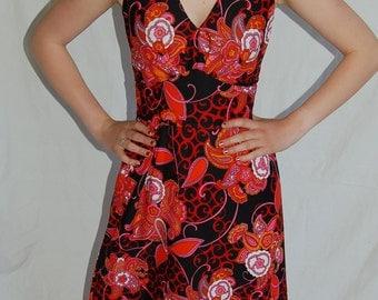Vintage dress, women's dress. full length dress,  70's dress, maxi dress, vintage maxi dress