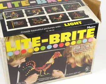 1978 Hasbro Lite-Brite in Original Box 1970s Toys Lite Brite