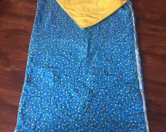 Vintage Blue Floral Sleeping Bag