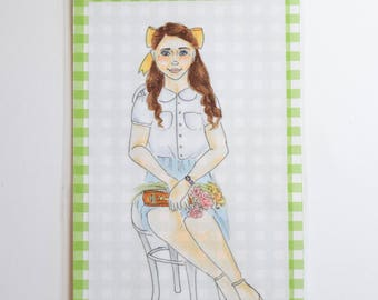 Vintage Girl Bookmark