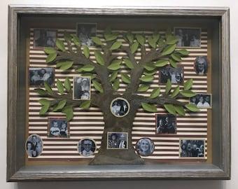 Custom Family Tree Shadow Box 8 x 10