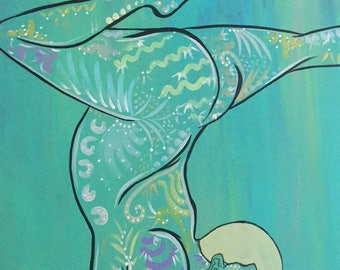 Painting: Vibrantly Frosted Black art yoga
