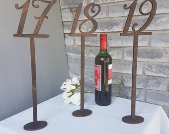 "16"" Tall Numerical Wood Table Number"