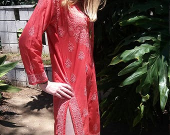 Vintage Indian dress with beautiful embroidery