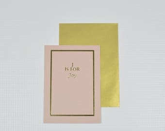 Card | J is for Joy