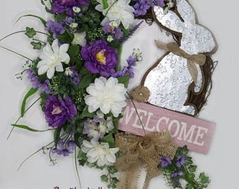 Easter Bunny Wreath, Easter Welcome Wreath, Easter Wreath For Front Door, Easter Wreath, Grapevine Easter Wreath, Spring Wreath Front Door