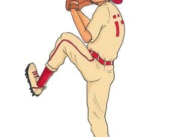 Baseball Boy Print (5x7)
