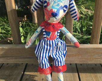 Sea Dog/ Handmade Doll/ OOAK Plush