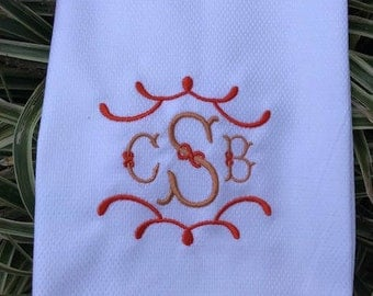 Monogrammed Hand Towel, Monogrammed Wedding Gift, Hostess Gift, Personalized Gift