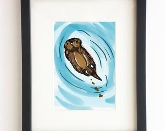 Otter - Poo Collection (Home Decor, Wall Art, Digital Print, DIY Decor)