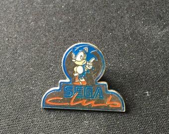 SEGA Club Sonic The Hedgeog  Enamel Pin Pinback Pin's