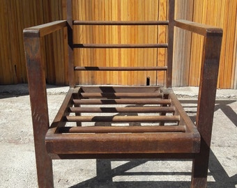 Massive reconstruction vintage ep 1950 oak Chair